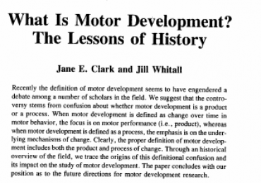 1989 ClarkWhitall Quest what is motordevelopment