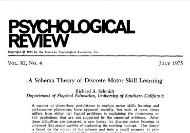 Schmidt (Psych Review 1975)