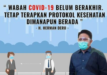 himbauan Gubernur Sumatera Selatan H Herman Deru terhadap wabah covid-19