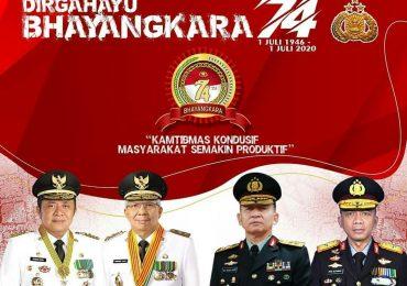 Pemerintah Provinsi Sumsel mengucapkan Selamat Dirgahayu Bhayangkara ke 74
